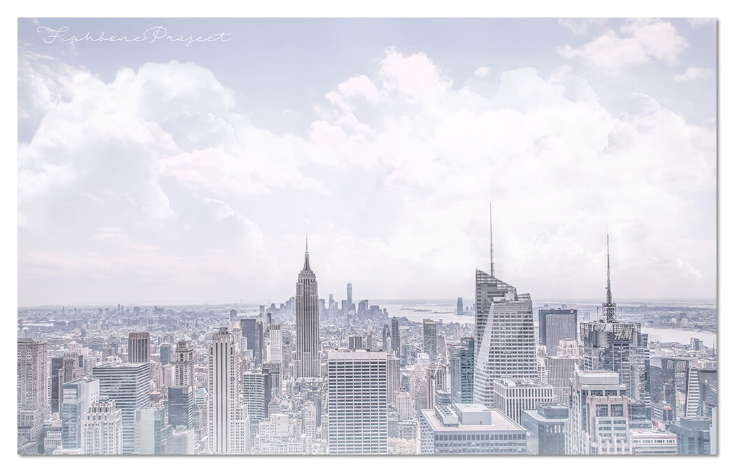 """New York in Pastel"" 120 x 75"